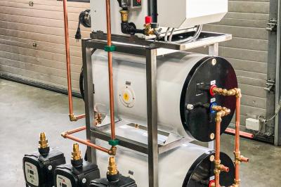 CV-systeem en waterdrinkinstallatie voor Etoile de Champagne