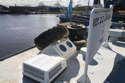 Installatie Dometic-dakairco op zandzuiger De IJssel afgerond